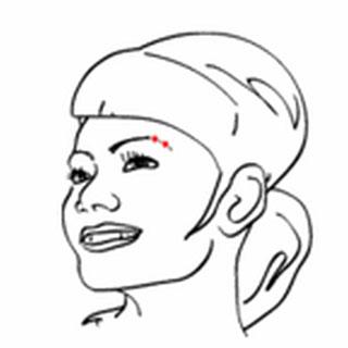 Frau Augenbraue Piercing